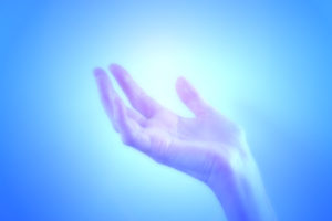 Beautiful blue healing light