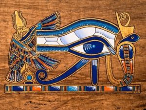 13203533 - egyptian papyrus depicting the horus eye