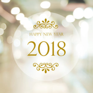 80772180 - happy new year 2018 on abstract blur festive bokeh background, banner